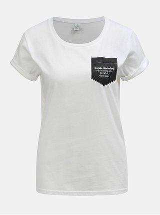 Bílé dámské tričko s potiskem ZOOT Original Dorota Máchalová