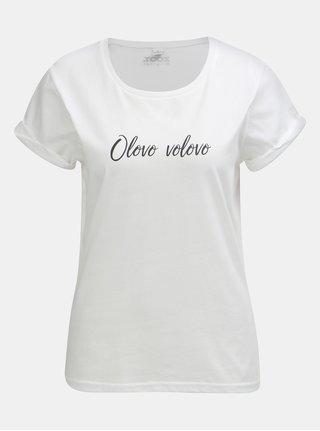 Bílé dámské tričko s potiskem ZOOT Original Olovo volovo