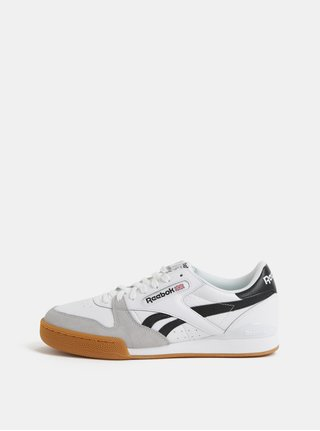 Pantofi sport barbatesti albi din piele Reebok Phase