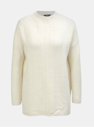 Krémový dámský volný svetr s příměsí vlny Tom Joule