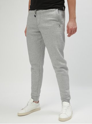 Pantaloni sport gri deschis melanj slim fit Original Penguin