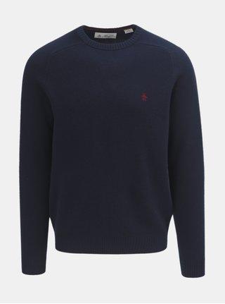 Tmavomodrý vlnený sveter Original Penguin