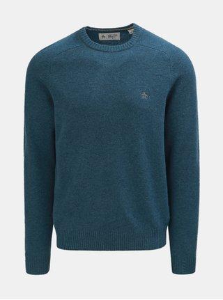 Modrý vlněný svetr Original Penguin