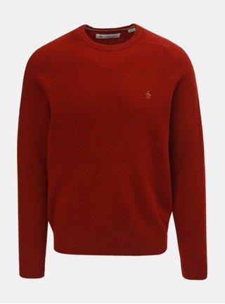 Červený vlnený sveter Original Penguin