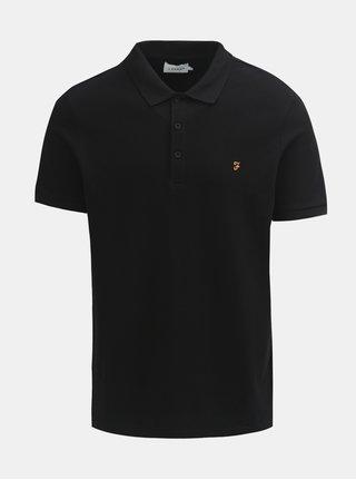 Černé polo tričko s krátkým rukávem Farah Blaney
