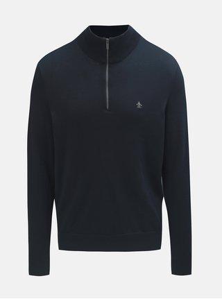 Tmavě modrý lehký svetr se zipem Original Penguin