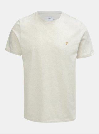 Krémové melírované tričko s krátkym rukávom Farah Denny