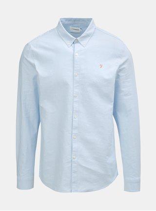 Svetlomodrá slim fit košeľa s dlhým rukávom Farah Brewer