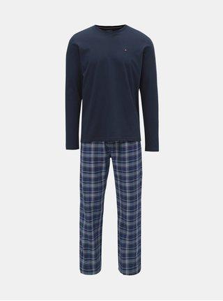 Pijama barbateasca din 2 piese albastru inchis Tommy Hilfiger
