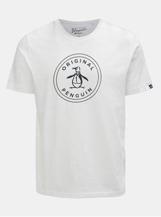 Biele tričko s potlačou Original Penguin