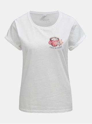 Bílé dámské tričko s potiskem ZOOT Original Kakao a cukroví