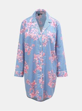 Růžovo-modrá květovaná noční košile Lauren Ralph Lauren