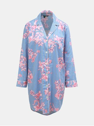 Ružovo–modrá kvetovaná nočná košeľa Lauren Ralph Lauren
