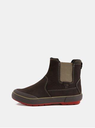 Tmavě hnědé dámské zimní chelsea boty Keen Elsa