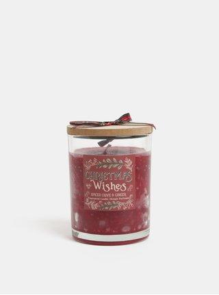Lumanare rosie cu aroma de cuisoare si ghimbir in cutie de cadou SIFCON
