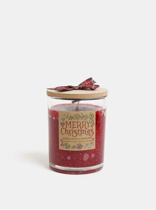 Lumanare rosie cu aroma de mar si scortisoara in cutie de cadou SIFCON