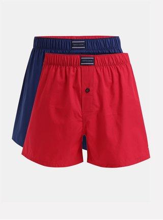 Set de 2 boxeri rosu si albastru Tommy Hilfiger