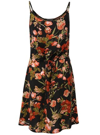 Rochie neagra cu model floral Haily´s Tabea