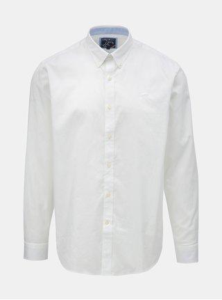 Bílá košile s dlouhým rukávem Raging Bull