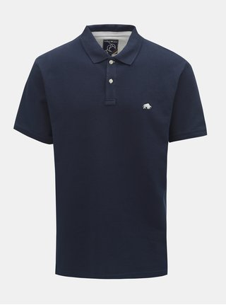 Tmavě modré polo tričko s krátkým rukávem Raging Bull