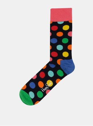 Tmavomodré unisex bodkované ponožky Happy Socks Big Dot