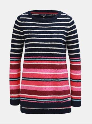 Ružovo–modrý dámsky pruhovaný sveter Tom Joule