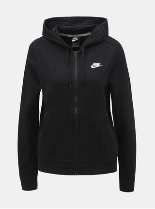 Hanorac negru de dama cu fermoar Nike