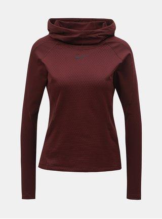 Vínová dámska termo mikina s kapucňou Nike