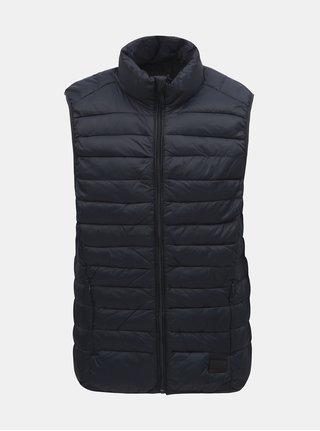 Tmavomodrá prešívaná vesta Blend