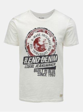 Biele tričko s nápisom Blend