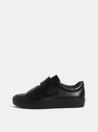 Černé dámské kožené tenisky na suchý zip Vagabond Zoe