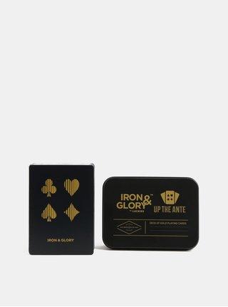 Dárkové balení karet ve zlato-černé barvě Iron & Glory by Luckies