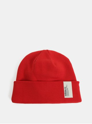 Červená čepice s nášivkou adidas Originals