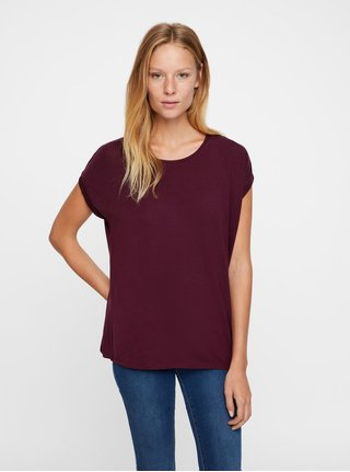 Tricou basic bordo VERO MODA AWARE Ava