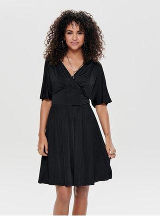 1cb025bf279 Černé šaty s překládaným výstřihem ONLY Iris