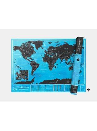 Nástenná stieracia mapa Ed Sheeran by Luckies