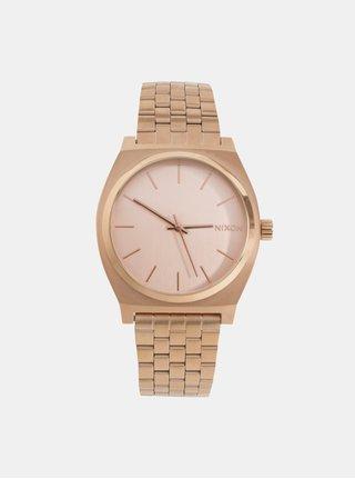 Dámske hodinky s nerezovým remienkom v ružovozlatej farbe NIXON