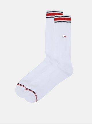 Súprava dvoch párov pánskych bielych ponožiek Tommy Hilfiger