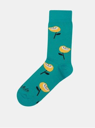 a7e20e5b422 Tyrkysové ponožky Fusakle Mak horský