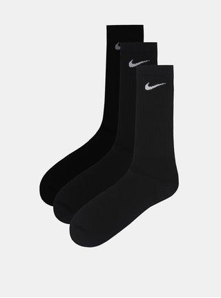 Set de 3 perechi de sosete negre lungi Nike Lightweight