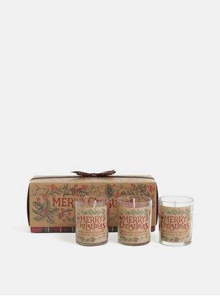 Set de 3 lumunare cu aroma de mar si scortisoara in cutie de cadou SIFCON