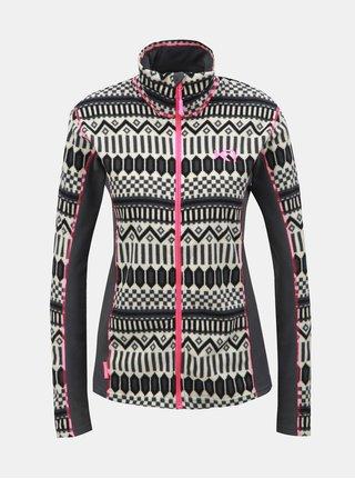 Bluza sport negru-crem din fleece cu model Kari Traa Kroll