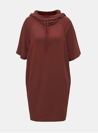 Cihlové mikinové šaty s kapucí prAna Carys