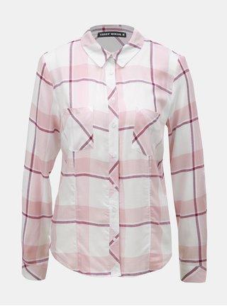 Bílo-růžová kostkovaná košile s náprsními kapsami TALLY WEiJL