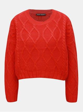 Červený svetr s dlouhým rukávem TALLY WEiJL