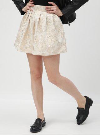 9d0ab5dab991 Krémová kvetovaná sukňa TALLY WEiJL