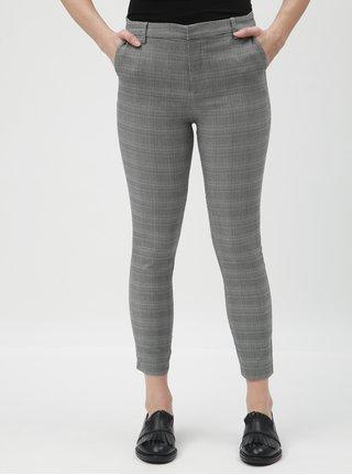 Šedé kostkované zkrácené kalhoty TALLY WEiJL