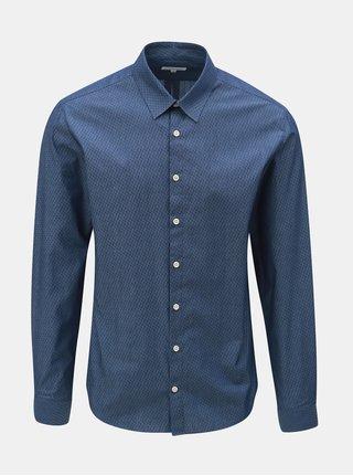 Modrá vzorovaná košile s dlouhým rukávem Lindbergh