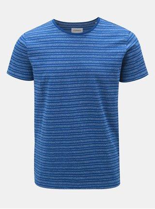 Modré pruhované tričko s krátkym rukávom Lindbergh
