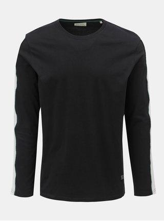 Černé tričko s pruhem na rukávu Shine Original Track